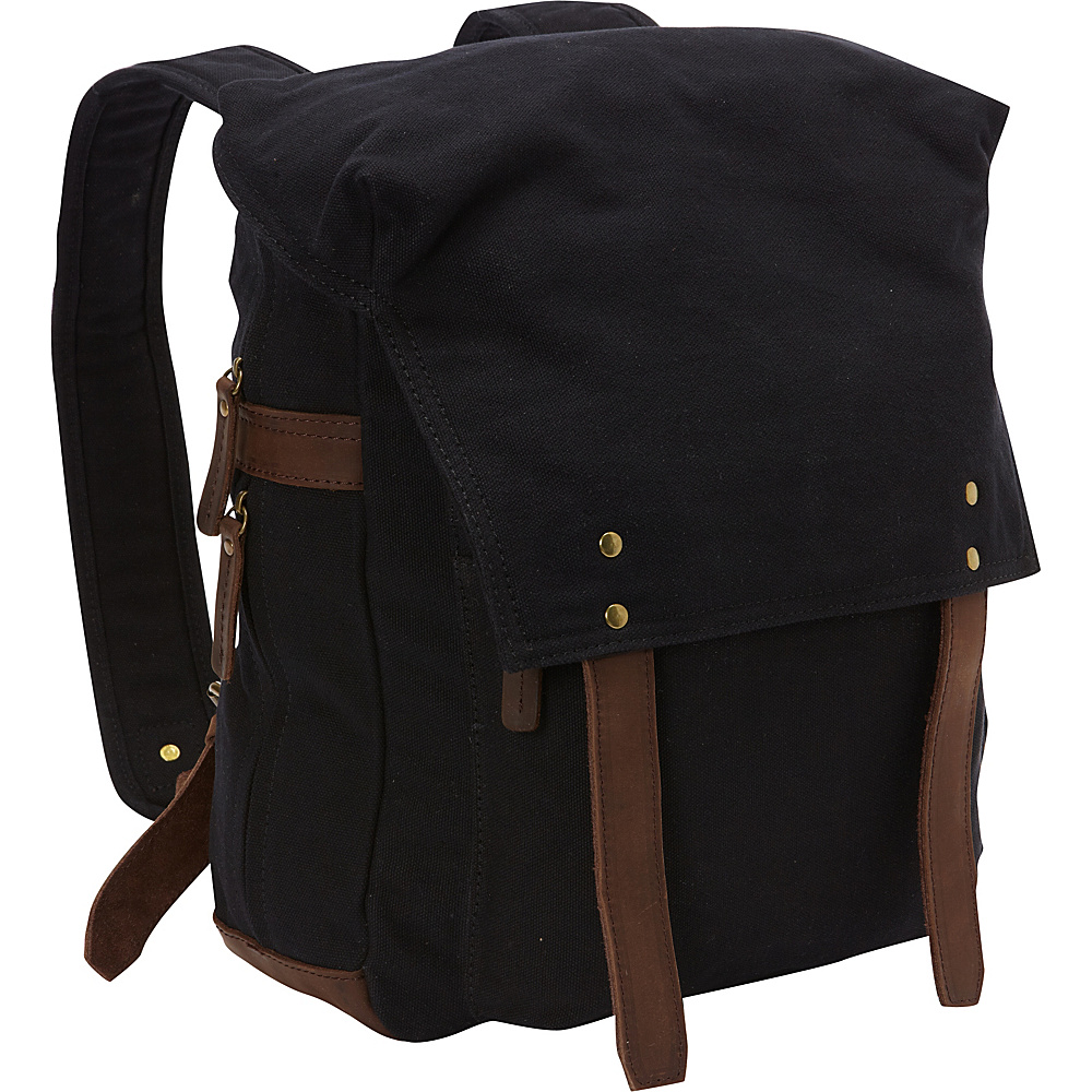 Vagabond Traveler Sport Canvas Backpack Rucksack Black - Vagabond Traveler Business & Laptop Backpacks - Backpacks, Business & Laptop Backpacks
