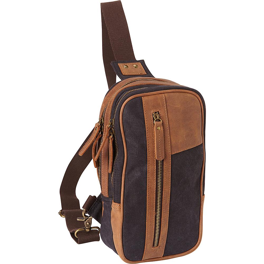 Vagabond Traveler Dual Compartments Cotton Canvas Travel Chest Pack Grey - Vagabond Traveler Slings - Backpacks, Slings