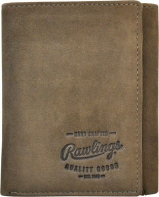 Rawlings Double Steal Trifold Wallet Glove Brown - Rawlings Men's Wallets