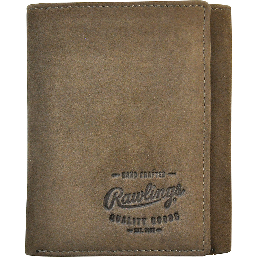 Rawlings Double Steal Trifold Wallet Glove Brown Rawlings Men s Wallets