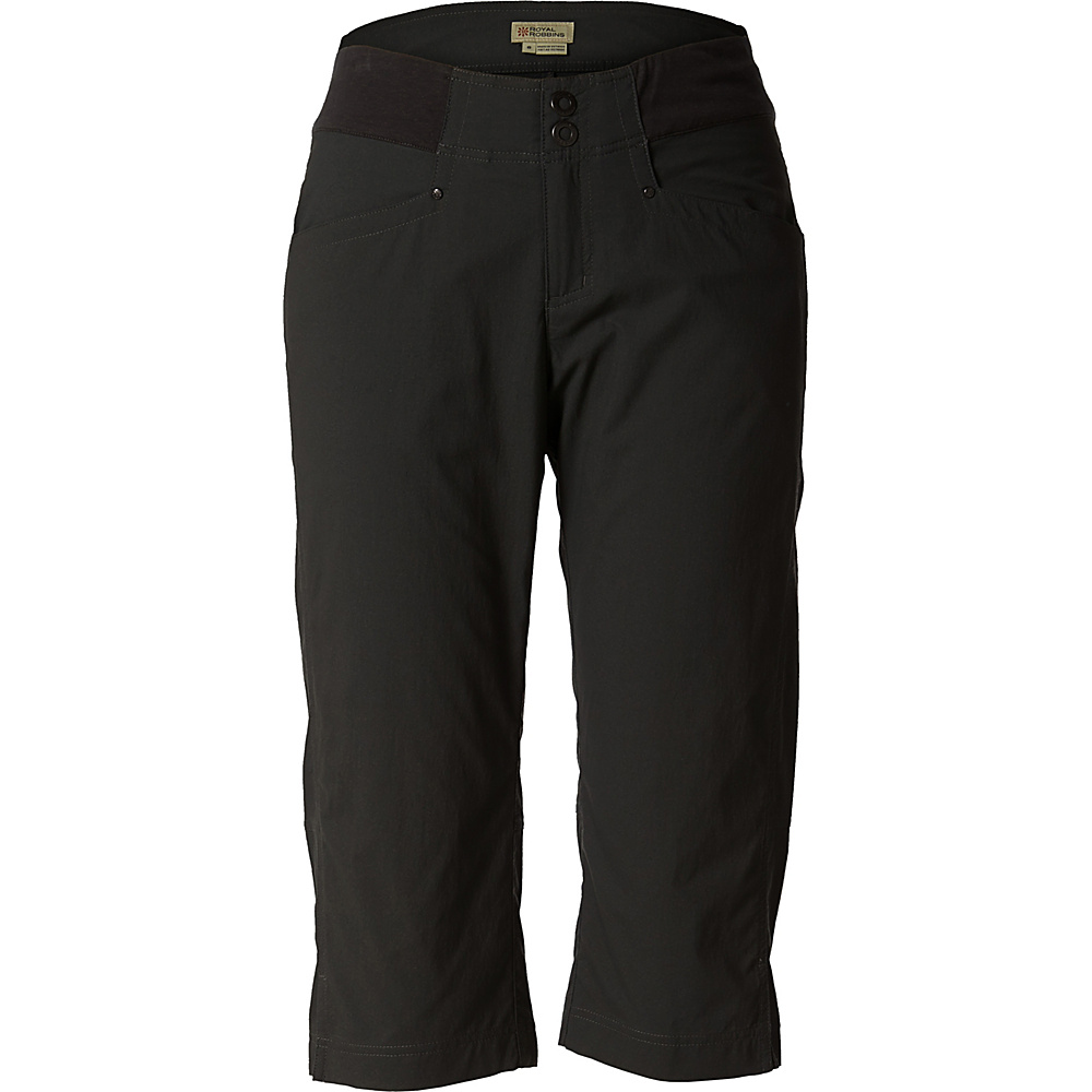Royal Robbins Womens Jammer Capri 12 - Jet Black - Royal Robbins Womens Apparel - Apparel & Footwear, Women's Apparel