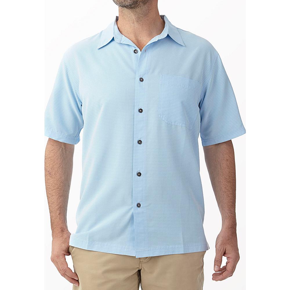 Royal Robbins Desert Pucker Short Sleeve M - Blue Chill - Royal Robbins Mens Apparel - Apparel & Footwear, Men's Apparel