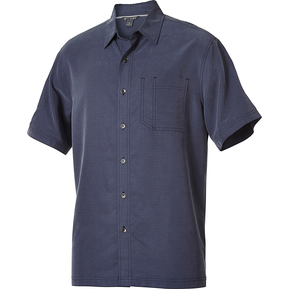 Royal Robbins Desert Pucker Short Sleeve S - Navy - Royal Robbins Mens Apparel - Apparel & Footwear, Men's Apparel