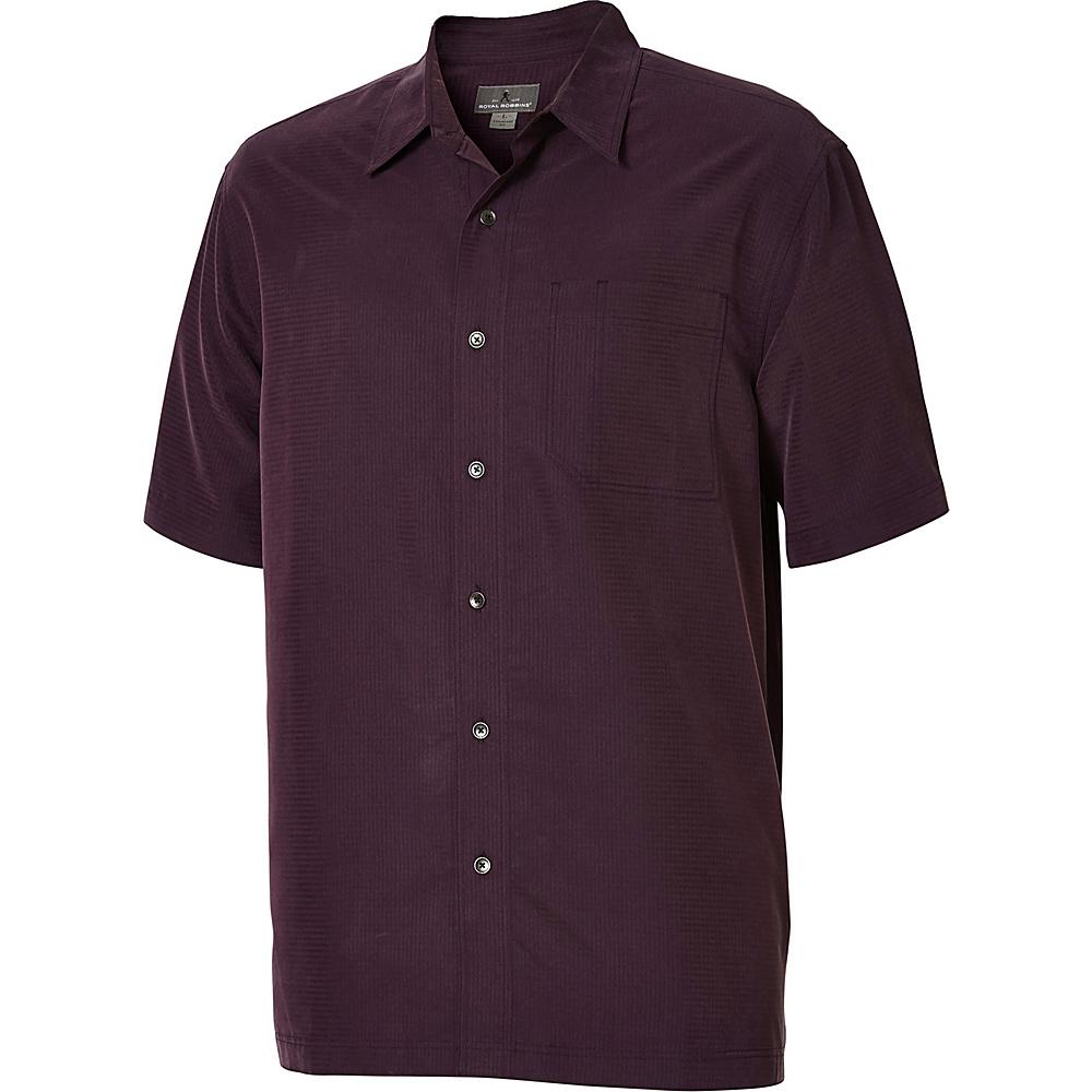 Royal Robbins Desert Pucker Short Sleeve S - Prune - Royal Robbins Mens Apparel - Apparel & Footwear, Men's Apparel