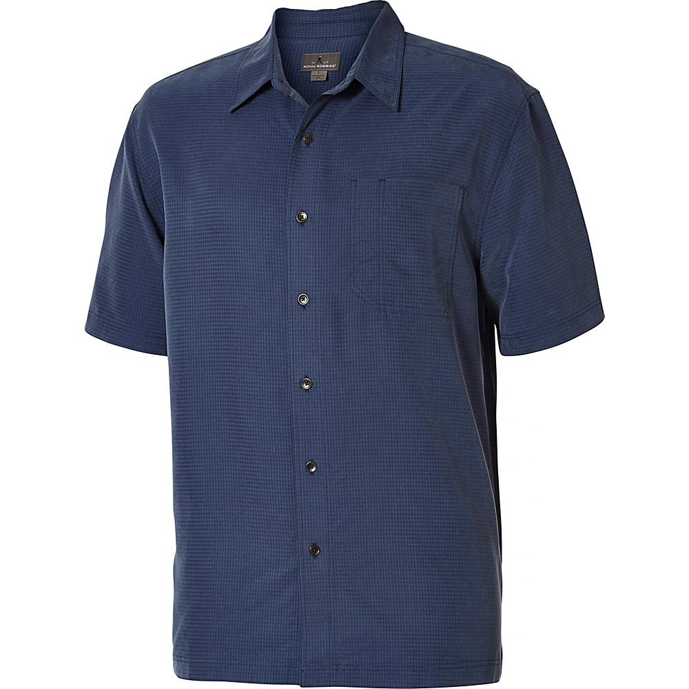 Royal Robbins Desert Pucker Short Sleeve M - Collins Blue - Royal Robbins Mens Apparel - Apparel & Footwear, Men's Apparel