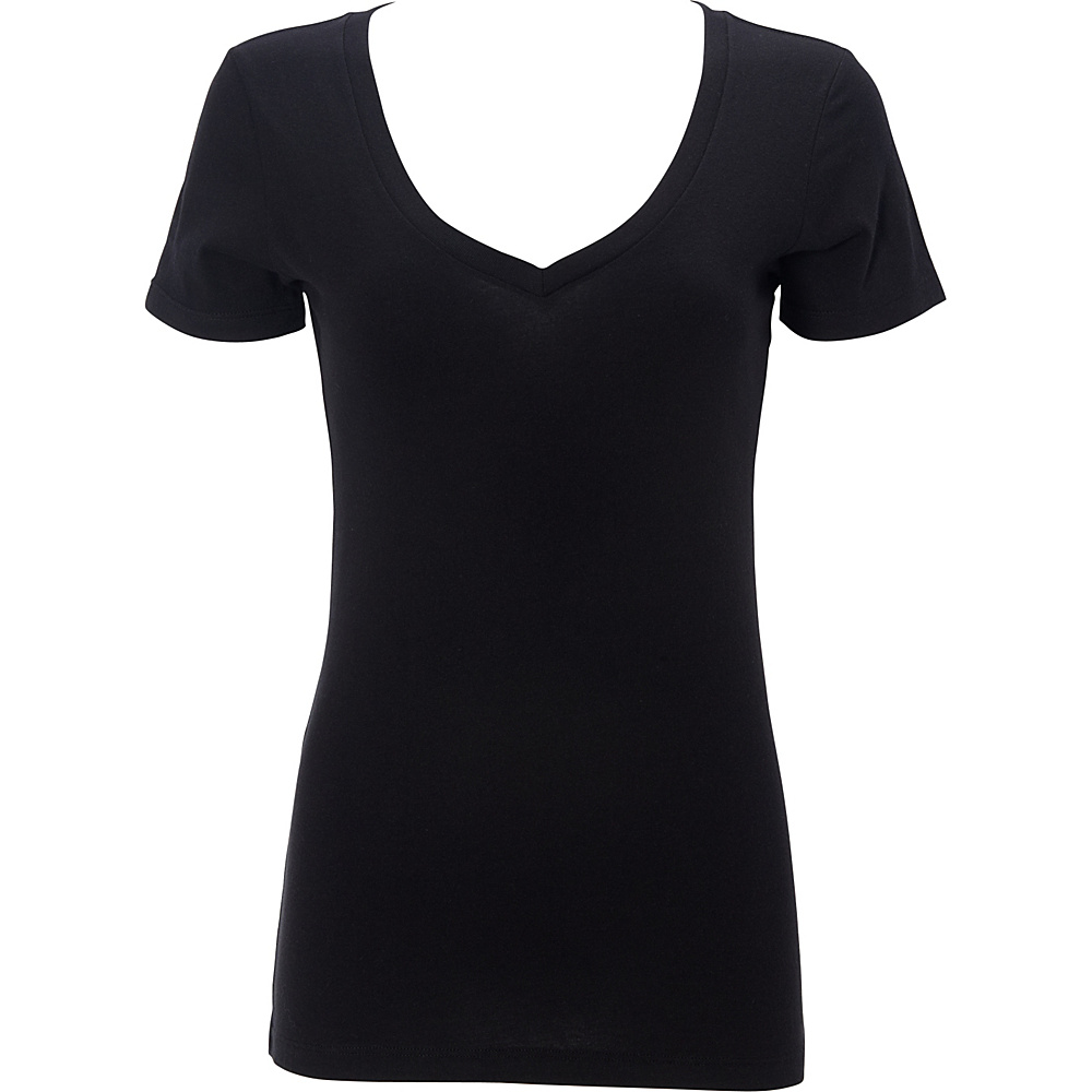 Simplex Apparel The Womens Deep V Tee 2XL - Black - Simplex Apparel Womens Apparel - Apparel & Footwear, Women's Apparel