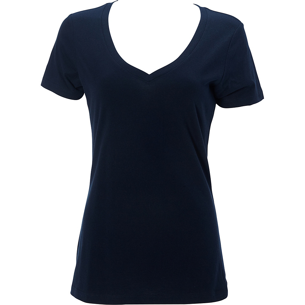 Simplex Apparel The Womens Deep V Tee L - Navy - Simplex Apparel Womens Apparel - Apparel & Footwear, Women's Apparel