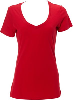 Simplex Apparel The Womens Deep V Tee S - Red - Simplex Apparel Women's Apparel