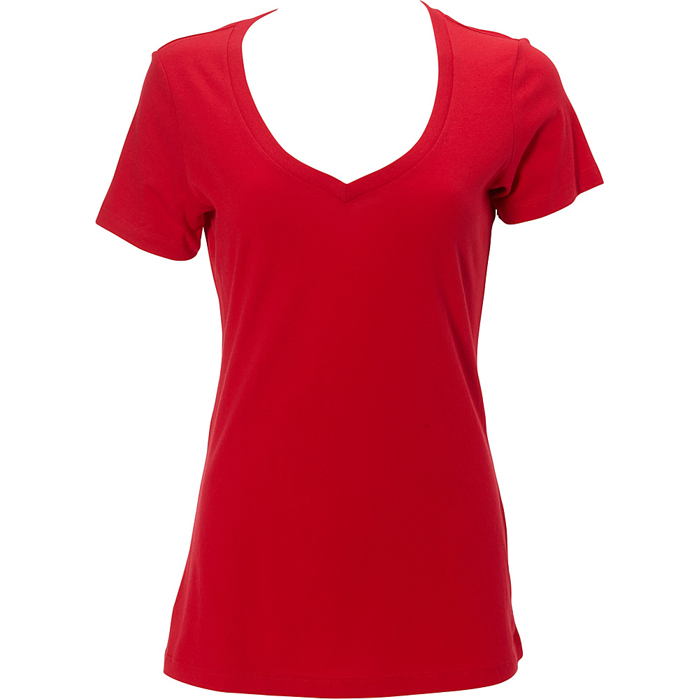 Simplex Apparel The Womens Deep V Tee M - Red - Simplex Apparel Womens Apparel - Apparel & Footwear, Women's Apparel