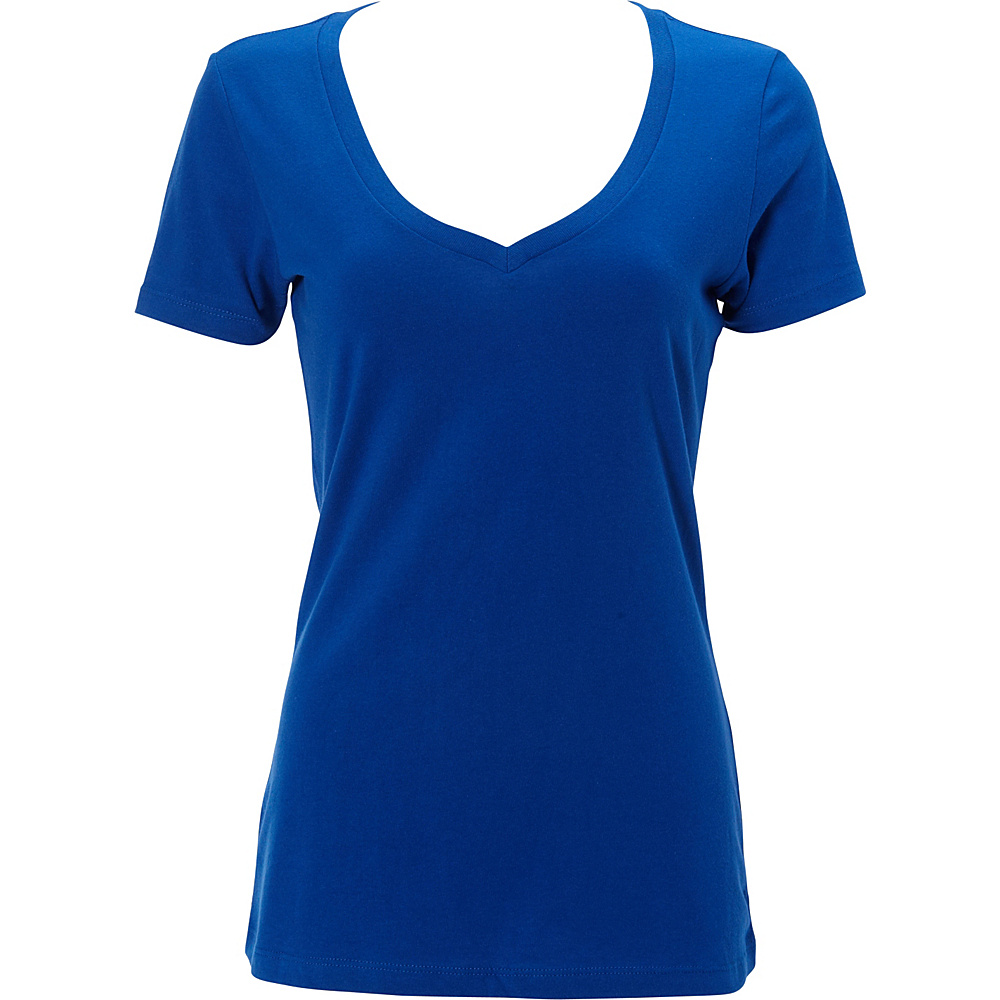 Simplex Apparel The Womens Deep V Tee S - Royal - Simplex Apparel Womens Apparel - Apparel & Footwear, Women's Apparel