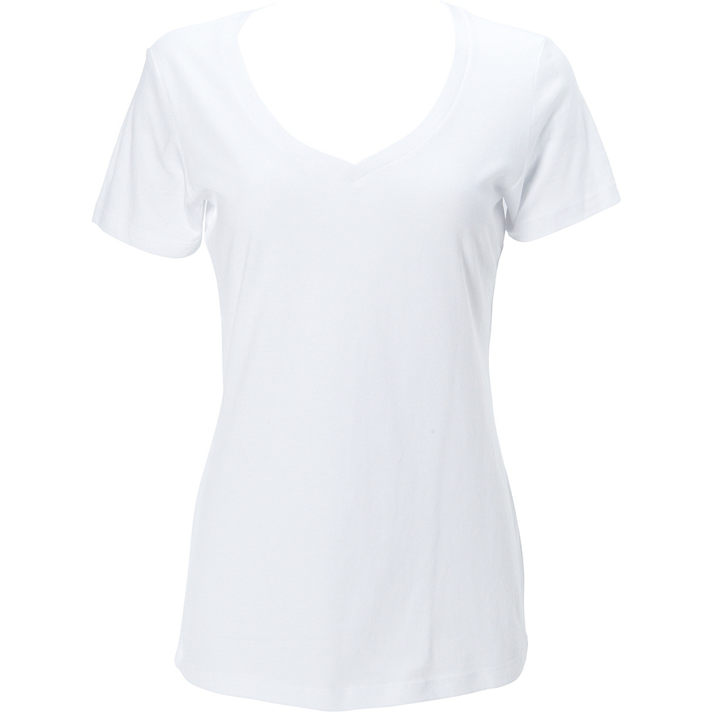 Simplex Apparel The Womens Deep V Tee L - White - Simplex Apparel Womens Apparel - Apparel & Footwear, Women's Apparel