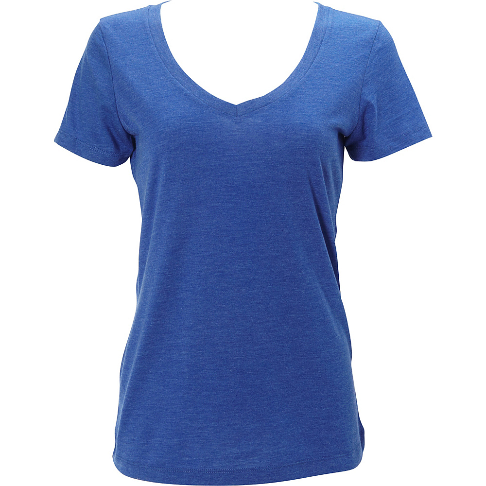 Simplex Apparel Triblend Womens Deep V Tee L - Royal - Simplex Apparel Womens Apparel - Apparel & Footwear, Women's Apparel