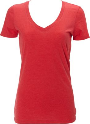 Simplex Apparel Triblend Womens Deep V Tee XS - Ruby Red - Simplex Apparel Women's Apparel