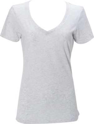 Simplex Apparel Triblend Womens Deep V Tee XL - Speckled White - Simplex Apparel Women's Apparel
