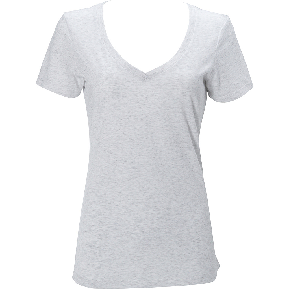 Simplex Apparel Triblend Womens Deep V Tee S - Speckled White - Simplex Apparel Womens Apparel - Apparel & Footwear, Women's Apparel