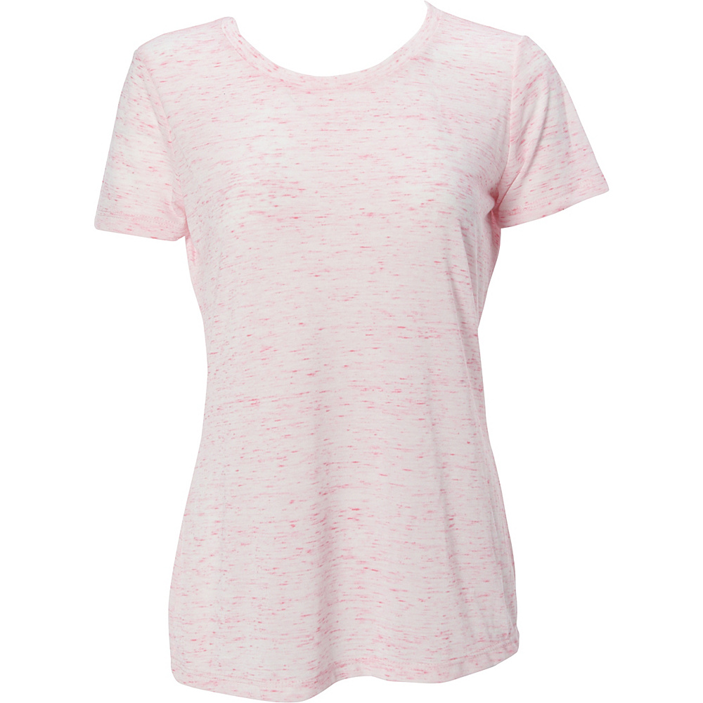 Simplex Apparel Caviar Womens Crew Tee L - Speckled Pink - Simplex Apparel Womens Apparel - Apparel & Footwear, Women's Apparel