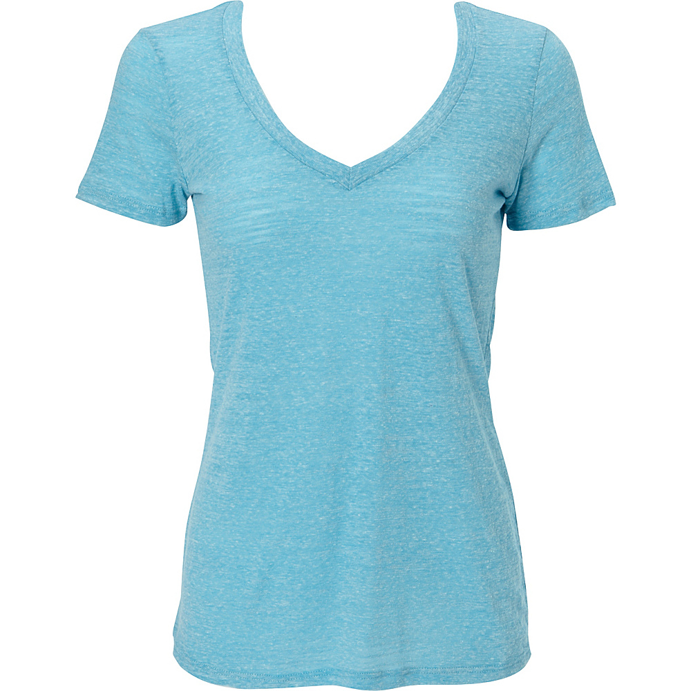 Simplex Apparel Triblend Slub Womens Deep V Tee XL - Aqua - Simplex Apparel Womens Apparel - Apparel & Footwear, Women's Apparel