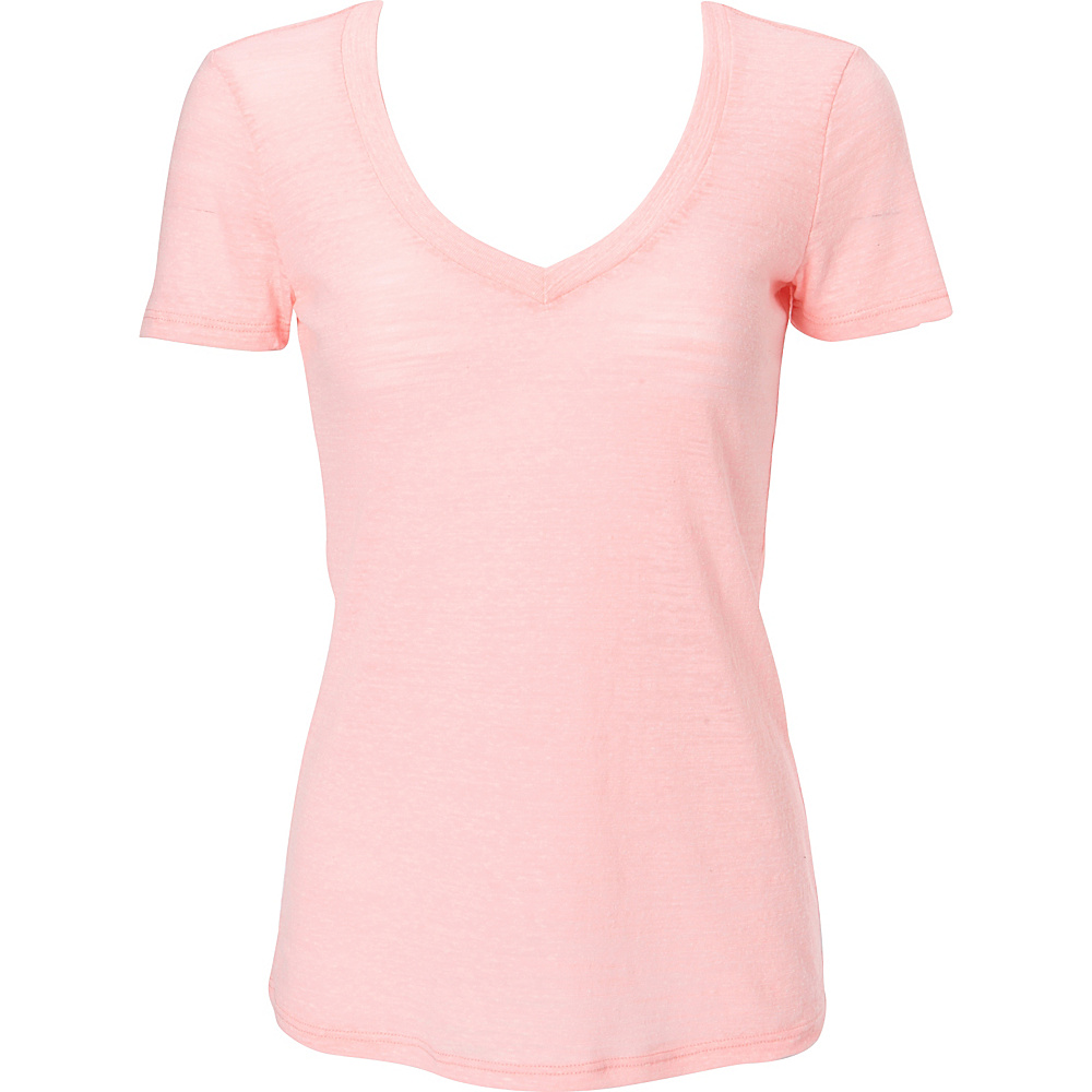Simplex Apparel Triblend Slub Womens Deep V Tee S - Pink - Simplex Apparel Womens Apparel - Apparel & Footwear, Women's Apparel