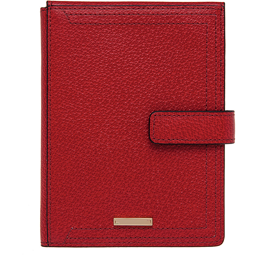 Lodis Stephanie Under Lock & Key Passport Wallet W/Ticket Flap Red - Lodis Travel Wallets - Travel Accessories, Travel Wallets
