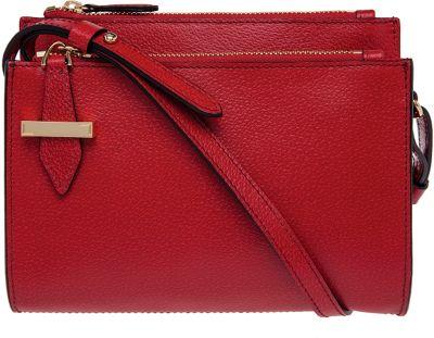 Lodis Stephanie Under Lock & Key Trisha Crossbody Red - Lodis Leather Handbags