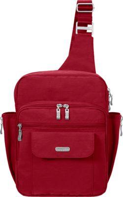 baggallini Messenger Sling Backpack- Retired Colors Apple - baggallini Fabric Handbags