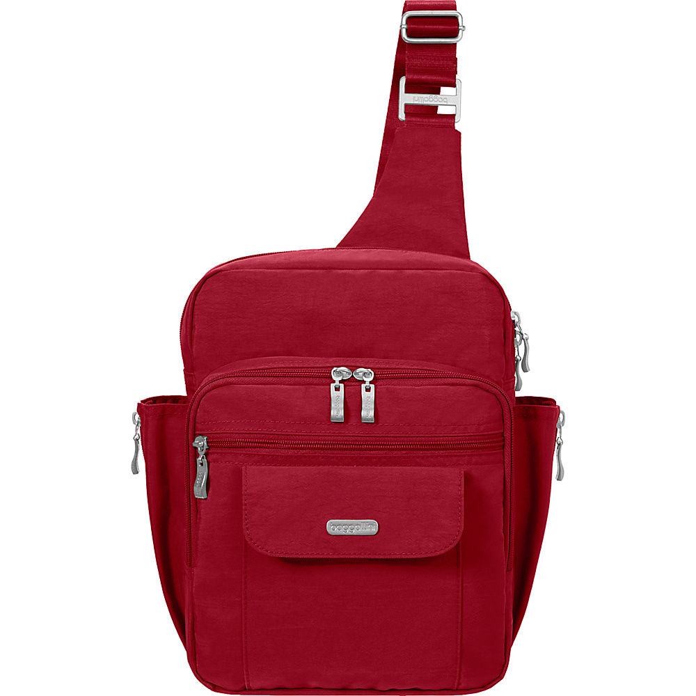 baggallini Messenger Sling Backpack- Retired Colors Apple - baggallini Fabric Handbags