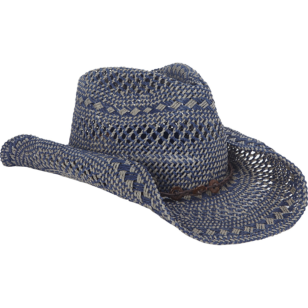 Sun N Sand Western Cowboy Hat One Size - Navy - Sun N Sand Hats/Gloves/Scarves - Fashion Accessories, Hats/Gloves/Scarves