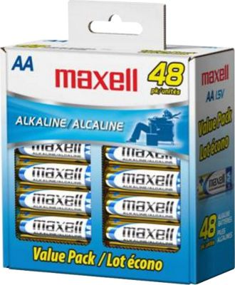 Maxell Gold Series Alkaline Batteries Bulk Retail Pack Gold - Maxell Portable Batteries & Chargers