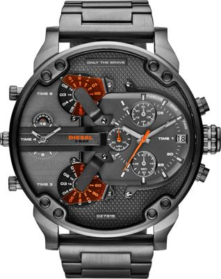 Diesel Watches Mr. Daddy 2.0 Watch Grey/Orange - Diesel Watches Watches