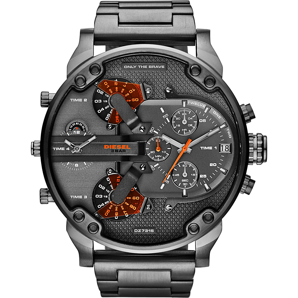 Diesel Watches Mr. Daddy 2.0 Watch Grey Orange Diesel Watches Watches