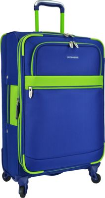 U.S. Traveler Alamosa 31 inch Expandable Spinner Royal Blue - U.S. Traveler Softside Checked