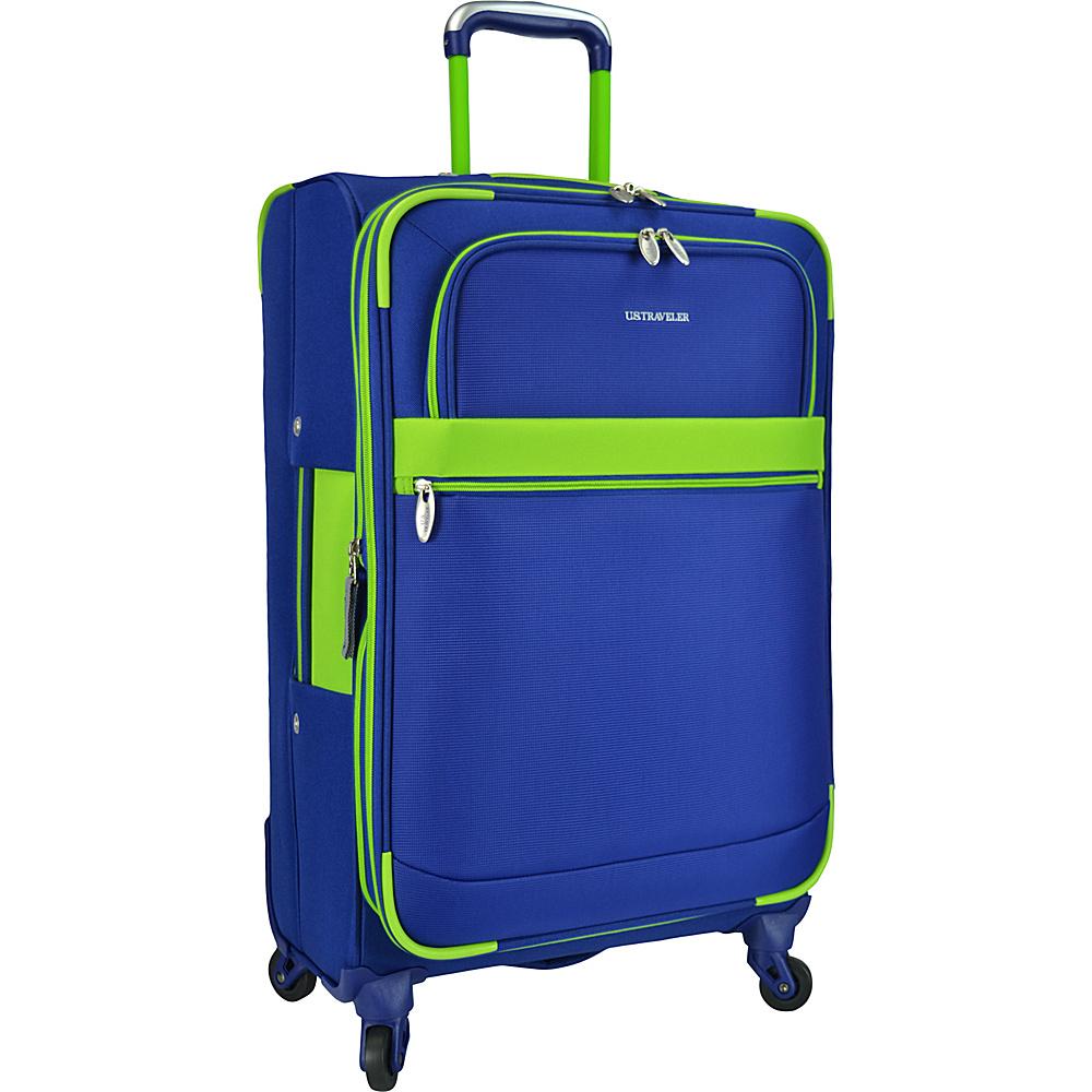 U.S. Traveler Alamosa 31 Expandable Spinner Royal Blue U.S. Traveler Softside Checked