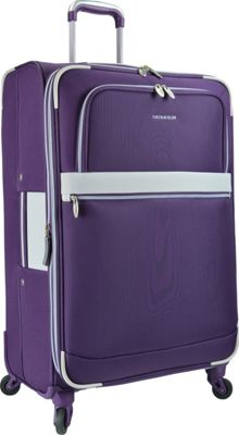 U.S. Traveler Alamosa 31 inch Expandable Spinner Purple - U.S. Traveler Softside Checked