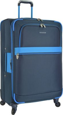 U.S. Traveler Alamosa 31 inch Expandable Spinner Blue - U.S. Traveler Softside Checked
