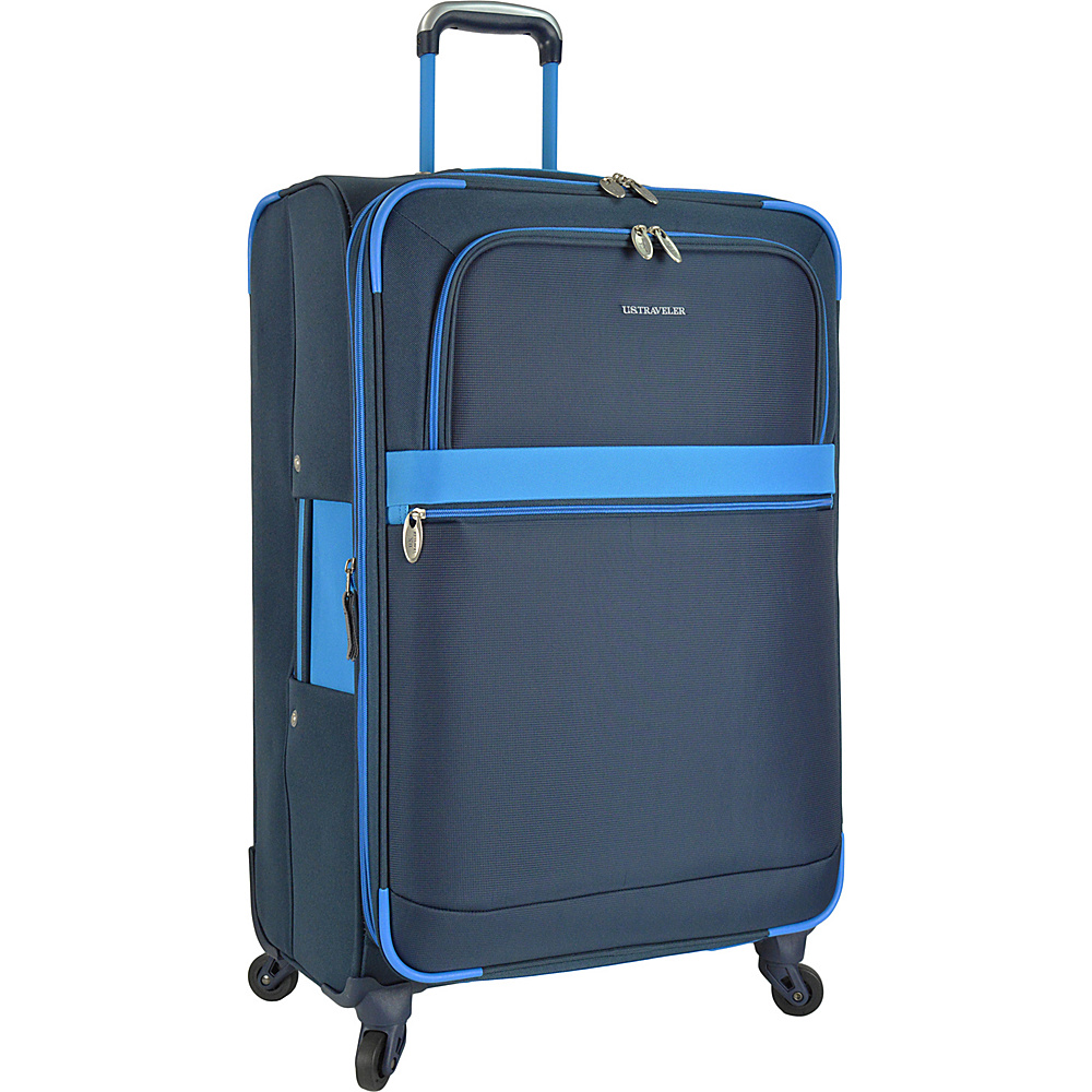 U.S. Traveler Alamosa 31 Expandable Spinner Blue U.S. Traveler Softside Checked