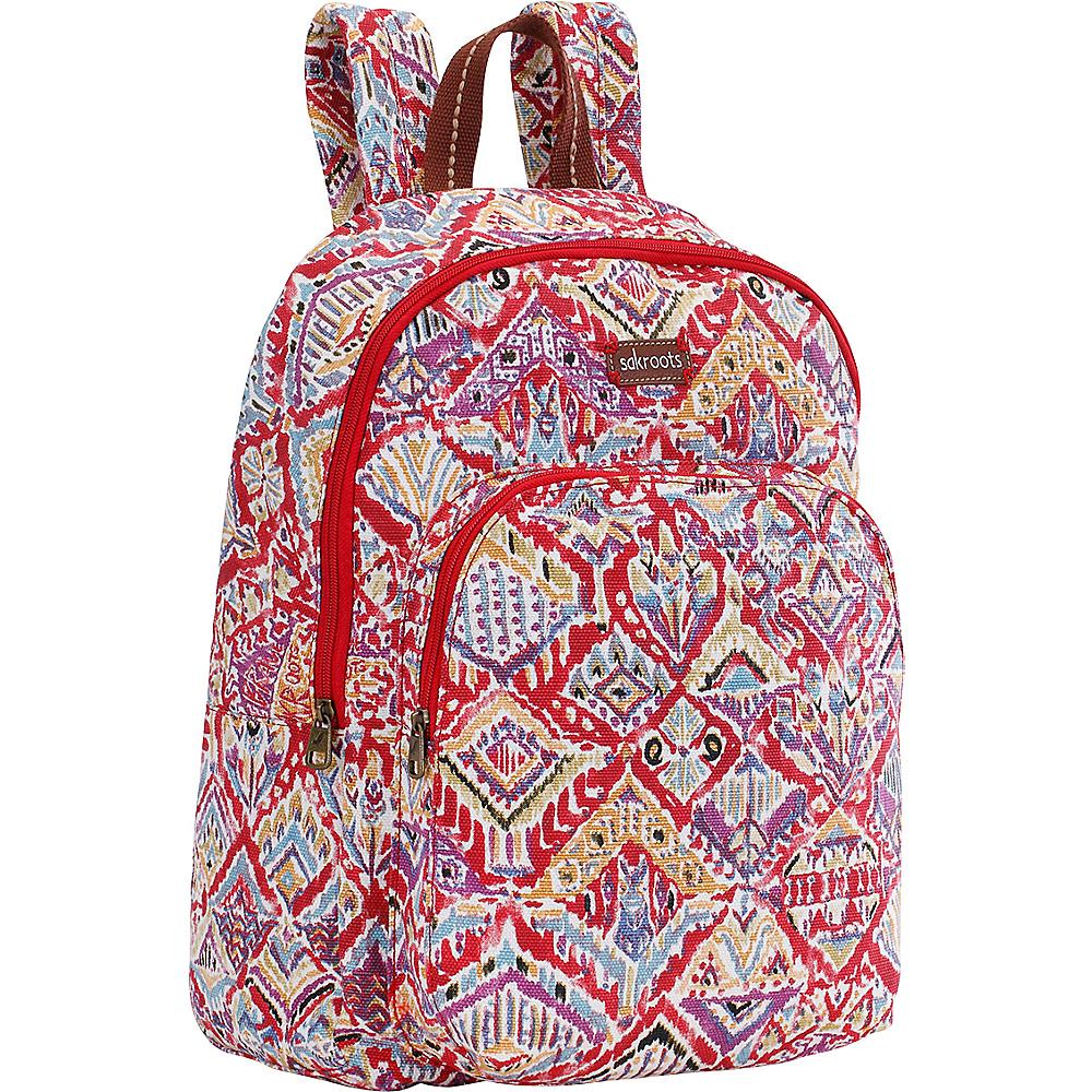 Sakroots Artist Circle Medium Backpack Sweet Red Brave Beauti - Sakroots School & Day Hiking Backpacks