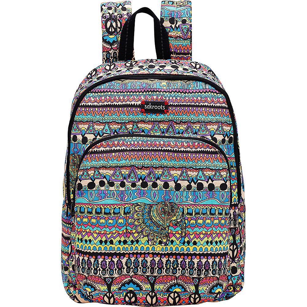 Sakroots Artist Circle Medium Backpack Radiant One World - Sakroots School & Day Hiking Backpacks