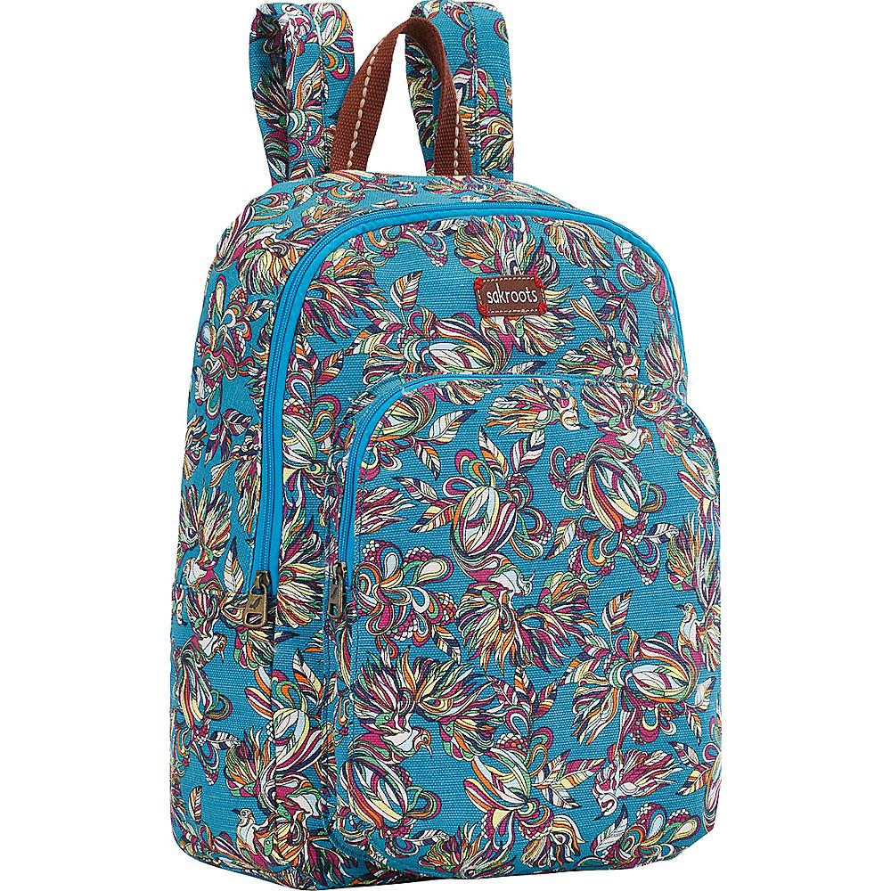 Sakroots Artist Circle Medium Backpack Teal Treehouse - Sakroots School & Day Hiking Backpacks