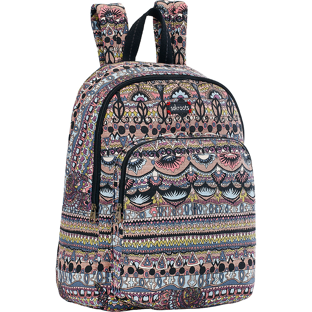 Sakroots Artist Circle Medium Backpack Taupe One World - Sakroots School & Day Hiking Backpacks
