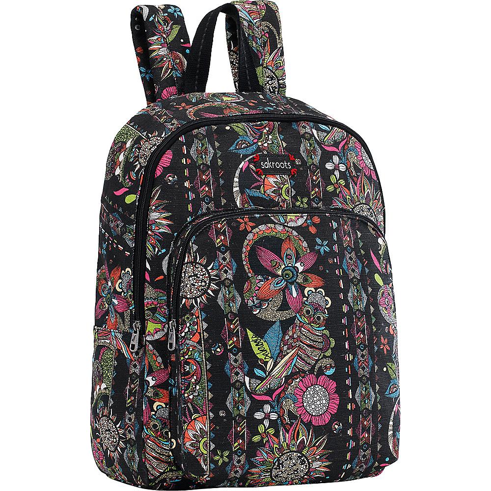 Sakroots Artist Circle Medium Backpack Neon Spirit Desert - Sakroots School & Day Hiking Backpacks