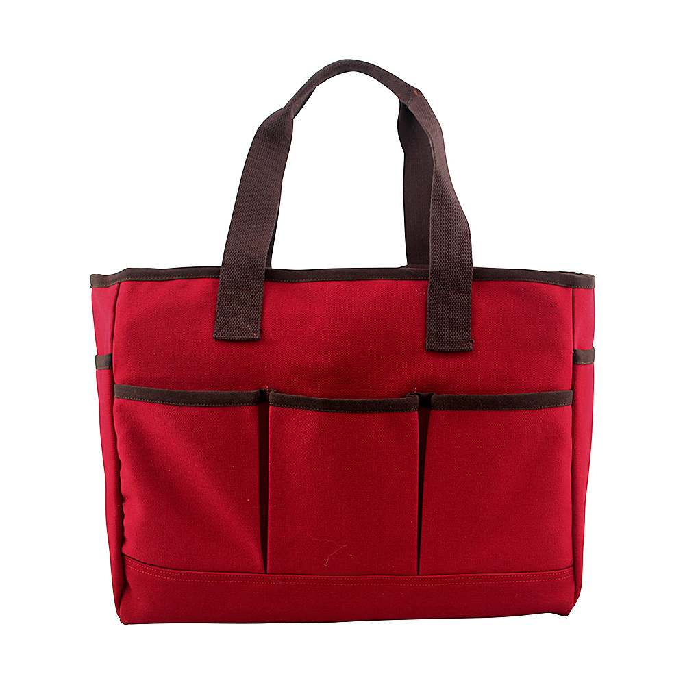CB Station Utility Tote Red - CB Station Fabric Handbags