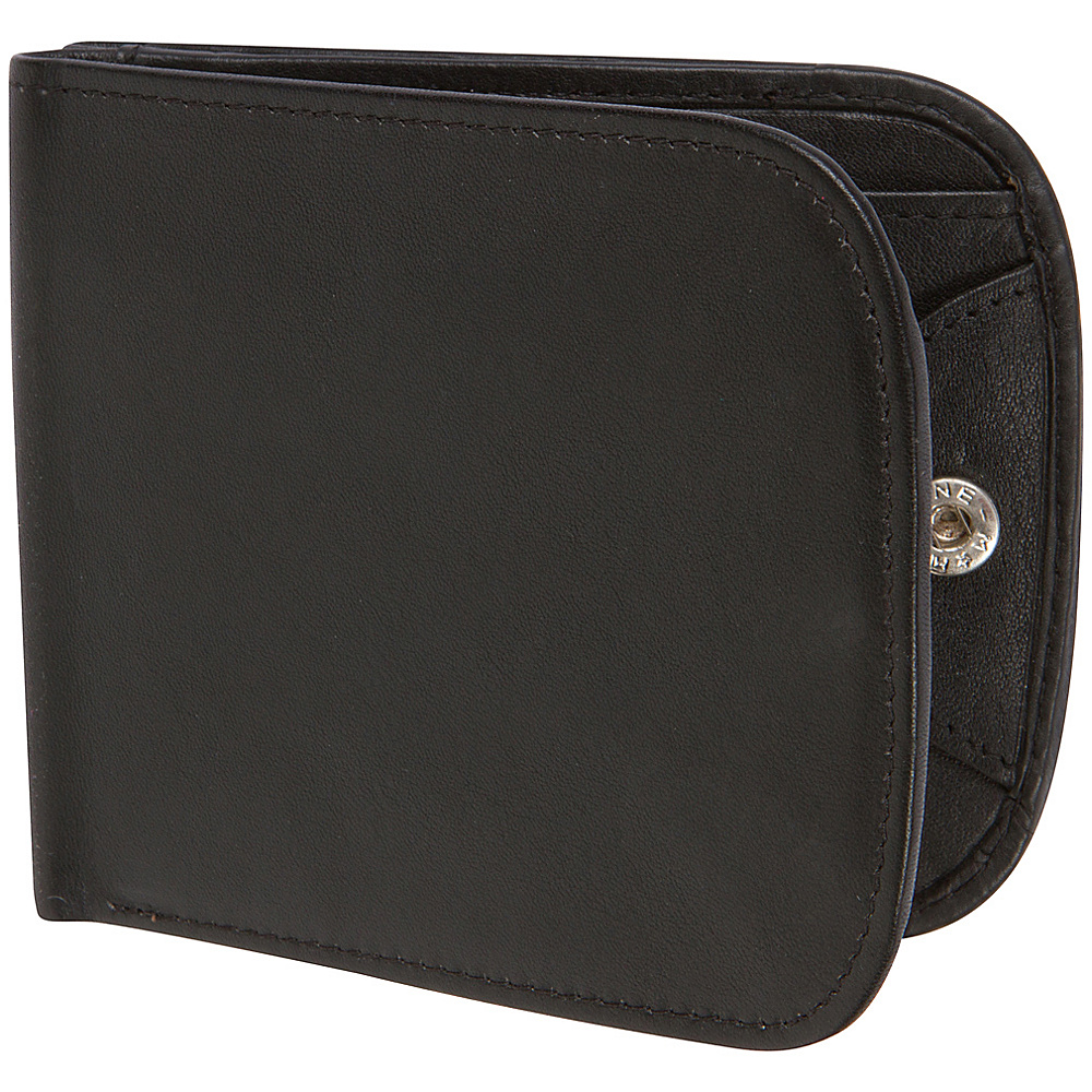 Access Denied RFID Blocking Nappa Leather Commuter Wallet Black Pebble Access Denied Women s Wallets