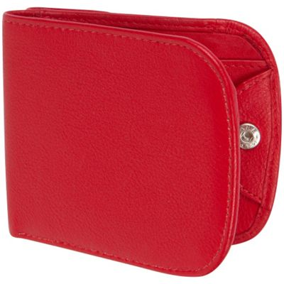 Access Denied RFID Blocking Nappa Leather Commuter Wallet Cherry Red Pebble - Access Denied Women's Wallets