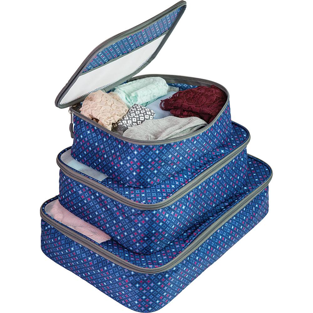 Travelon Set of 3 Packing Cubes Diamond Sparkle - Travelon Travel Organizers - Travel Accessories, Travel Organizers