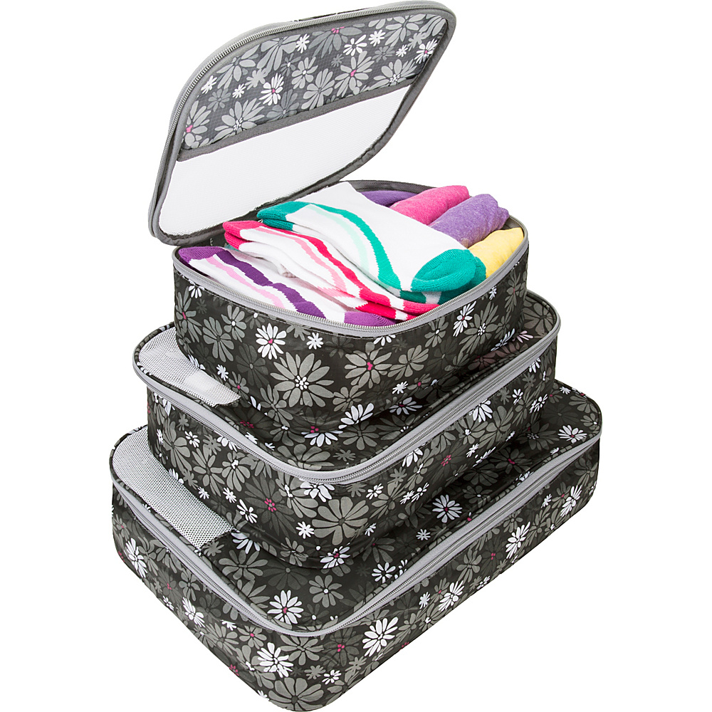 Travelon Set of 3 Packing Cubes Retro Mums - Travelon Travel Organizers - Travel Accessories, Travel Organizers