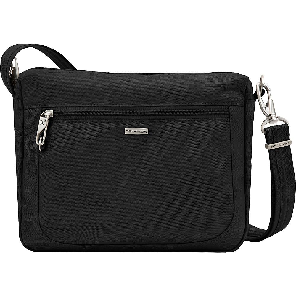 Travelon Anti-theft Classic Small E/W Crossbody Bag Black/Gray - Travelon Fabric Handbags - Handbags, Fabric Handbags