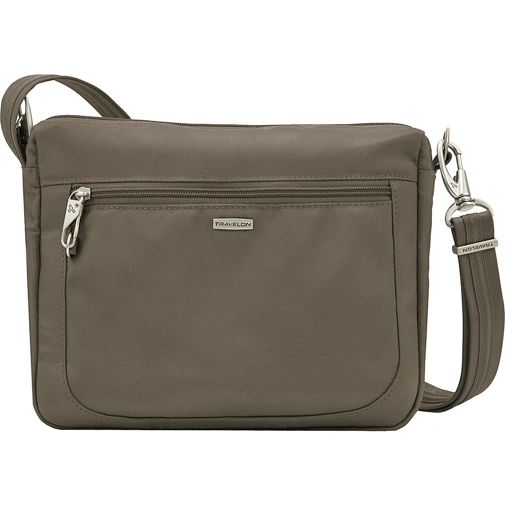 Travelon Anti-theft Classic Small E/W Crossbody Bag Nutmeg - Travelon Fabric Handbags - Handbags, Fabric Handbags