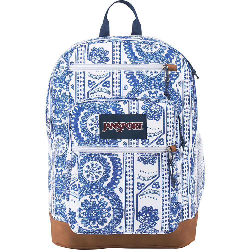 JanSport Cool Student Backpack White Swedish Lace - JanSport Everyday Backpacks