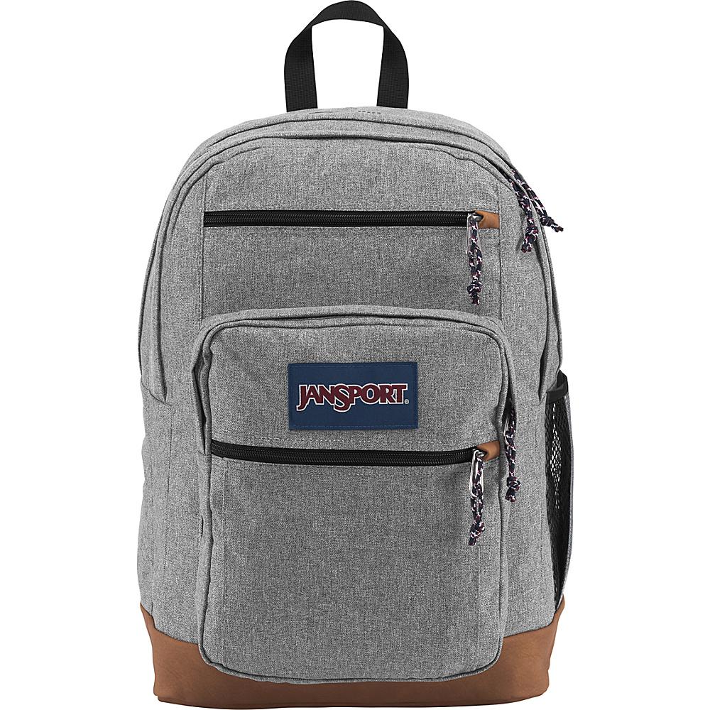 JanSport Cool Student Backpack Grey Letterman Poly - JanSport Everyday Backpacks