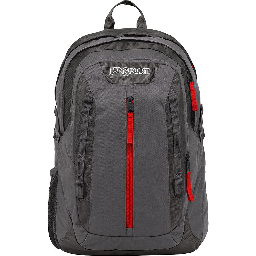 JanSport Tilden Laptop Backpack Forge Grey / Red Tape - JanSport Business & Laptop Backpacks